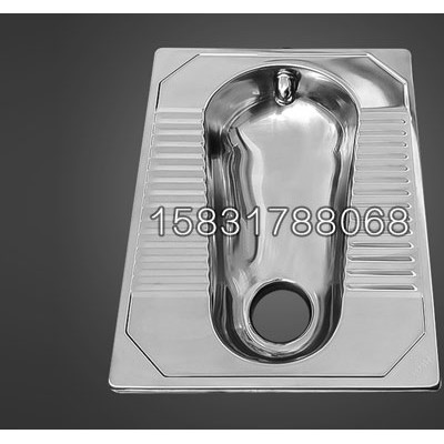 新疆监舍用不锈钢连体蹲坑 304材质防