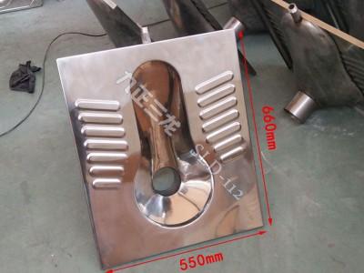 房车款拼房用不锈钢水冲蹲便器  采用304材质 客户可定制-- 泊头市三龙铁路车辆配件厂