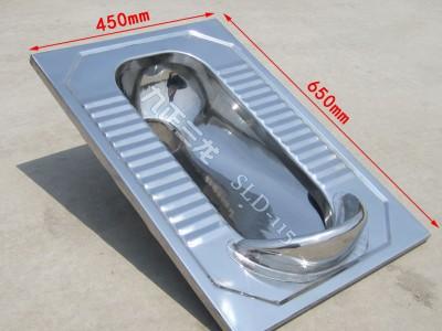 城镇厕所改造用不锈钢蹲便器 蹲坑式马桶 详情电联-- 泊头市三龙铁路车辆配件厂