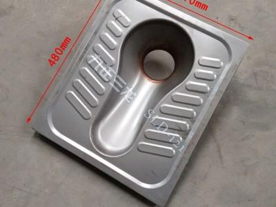 幼儿园不锈钢标准蹲便器 环保厕所用不锈钢蹲便器 节水型易清洁-- 泊头市三龙铁路车辆配件厂