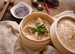 鲜韭菜蒸饺