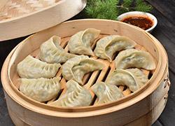 鲜荠菜蒸饺
