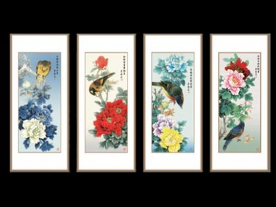 景泰蓝金丝珐琅《国色天香》-- 传世书画研究院