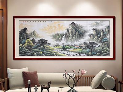 刘海青山水精品:《清泉带西出寒烟》-- 传世书画研究院