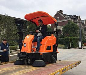 【茂全】扫地车入驻合肥海亮南郡物业社区
