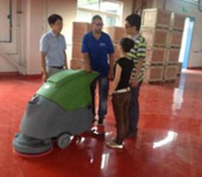 台湾茂全手推式洗地机服务客户见证