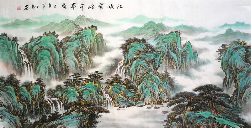 江峡云岭千峰秀小