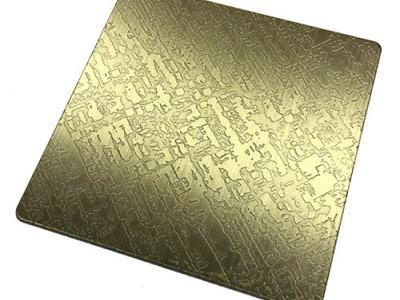 蚀刻布纹青古铜-- 恒品金属