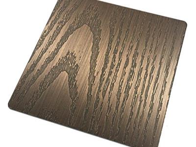 蚀刻木纹发黑-手工红古铜哑光抗指纹-- 恒品金属